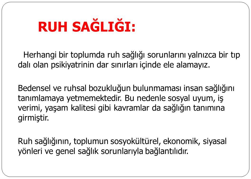 RUH SAĞLIĞI: