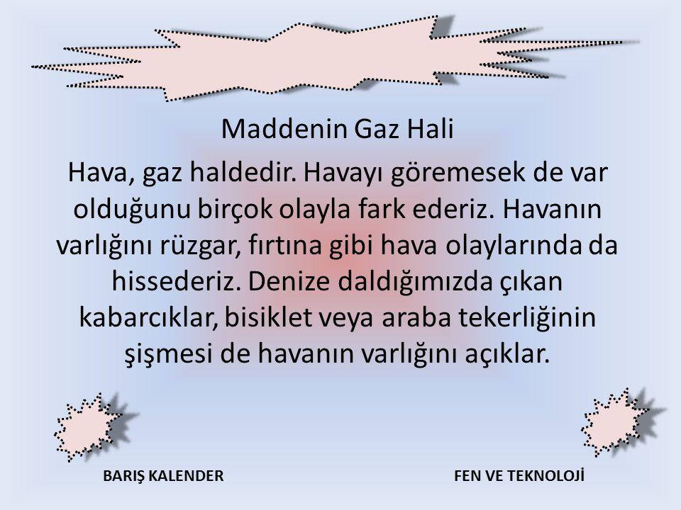 Maddenin Gaz Hali