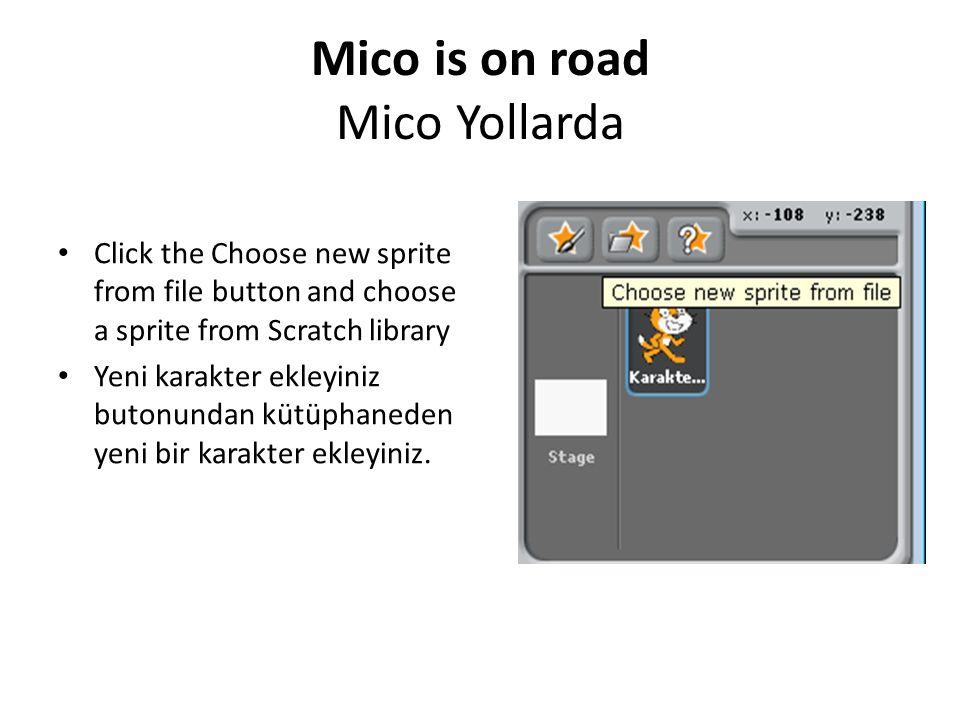 Mico is on road Mico Yollarda