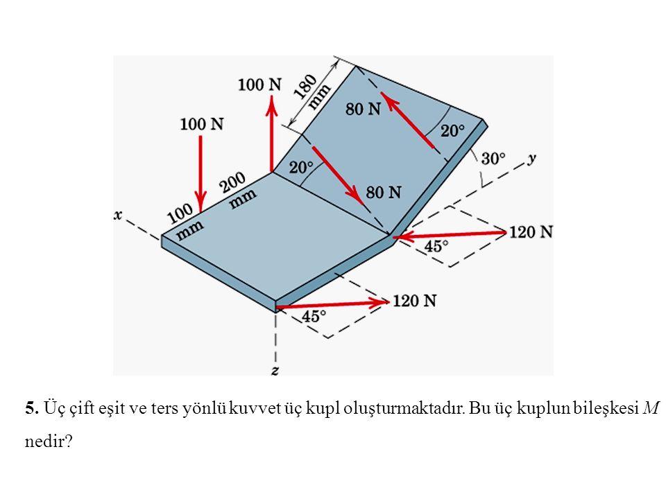 5. Üç çift eşit ve ters yönlü kuvvet üç kupl oluşturmaktadır