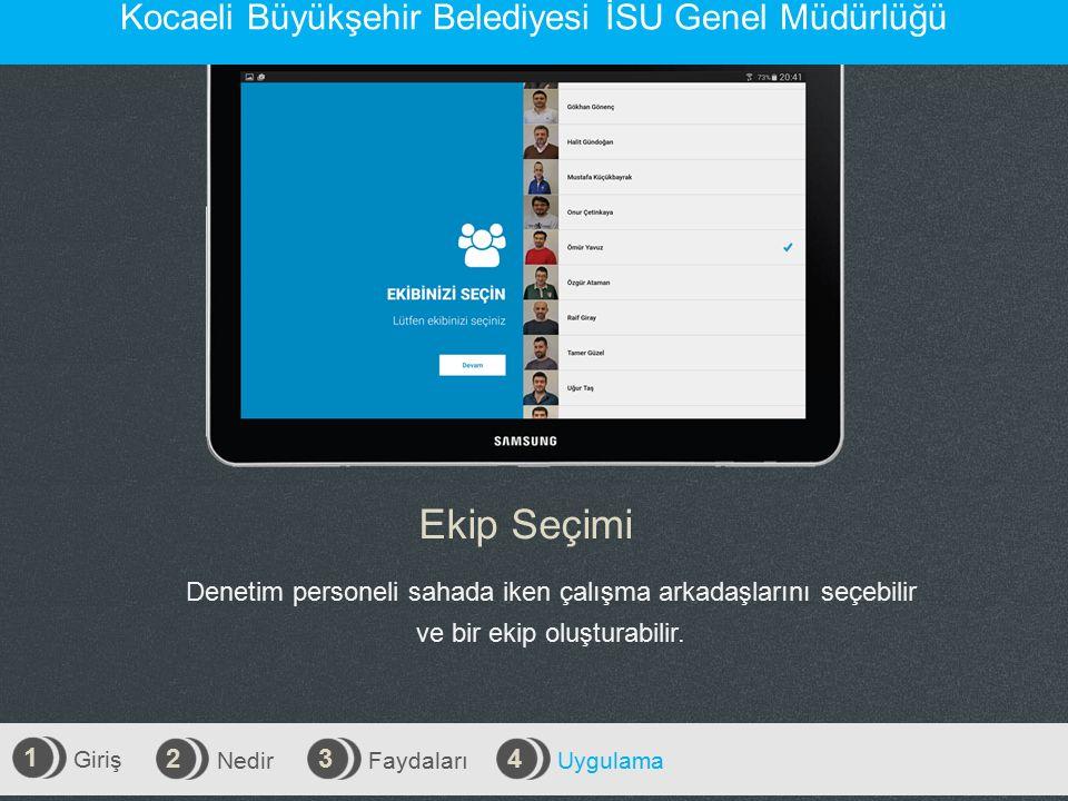 Ekip Seçimi Kocaeli Büyükşehir Belediyesi İSU Genel Müdürlüğü