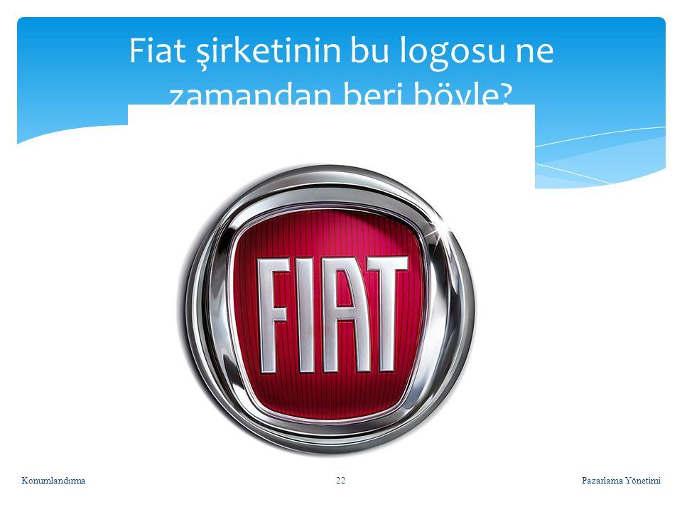 Fiat şirketinin bu logosu ne zamandan beri böyle