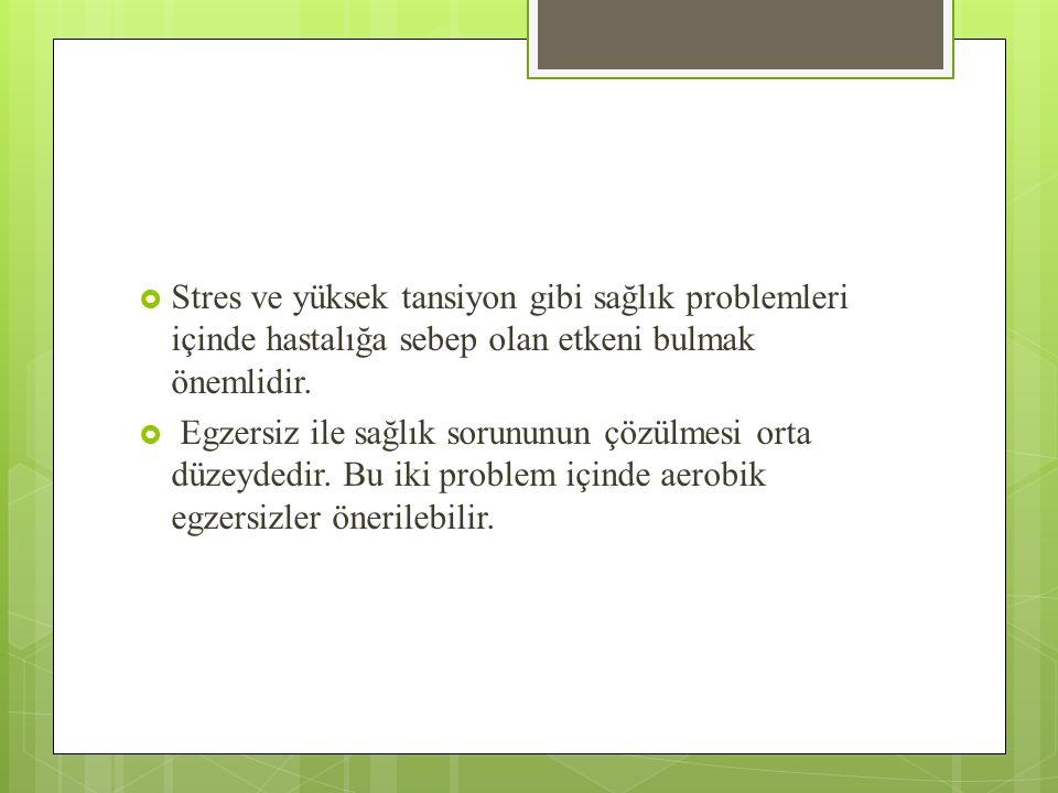 Stres ve yüksek tansiyon gibi sağlık problemleri içinde hastalığa sebep olan etkeni bulmak önemlidir.