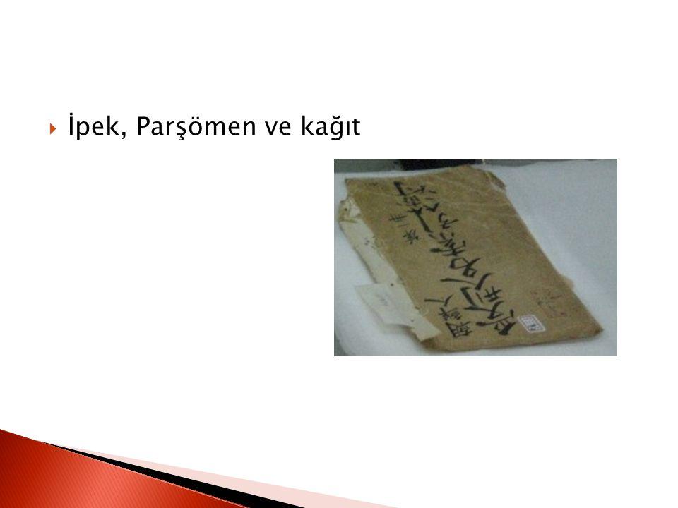 İpek, Parşömen ve kağıt