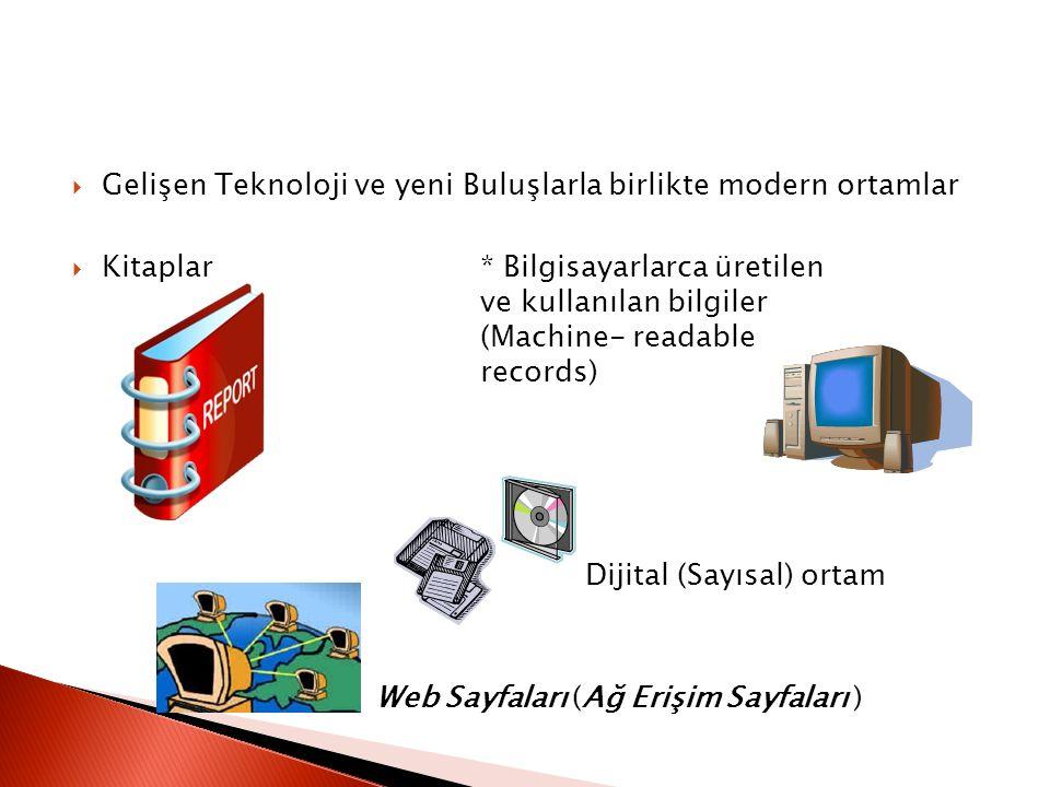 Gelişen Teknoloji ve yeni Buluşlarla birlikte modern ortamlar