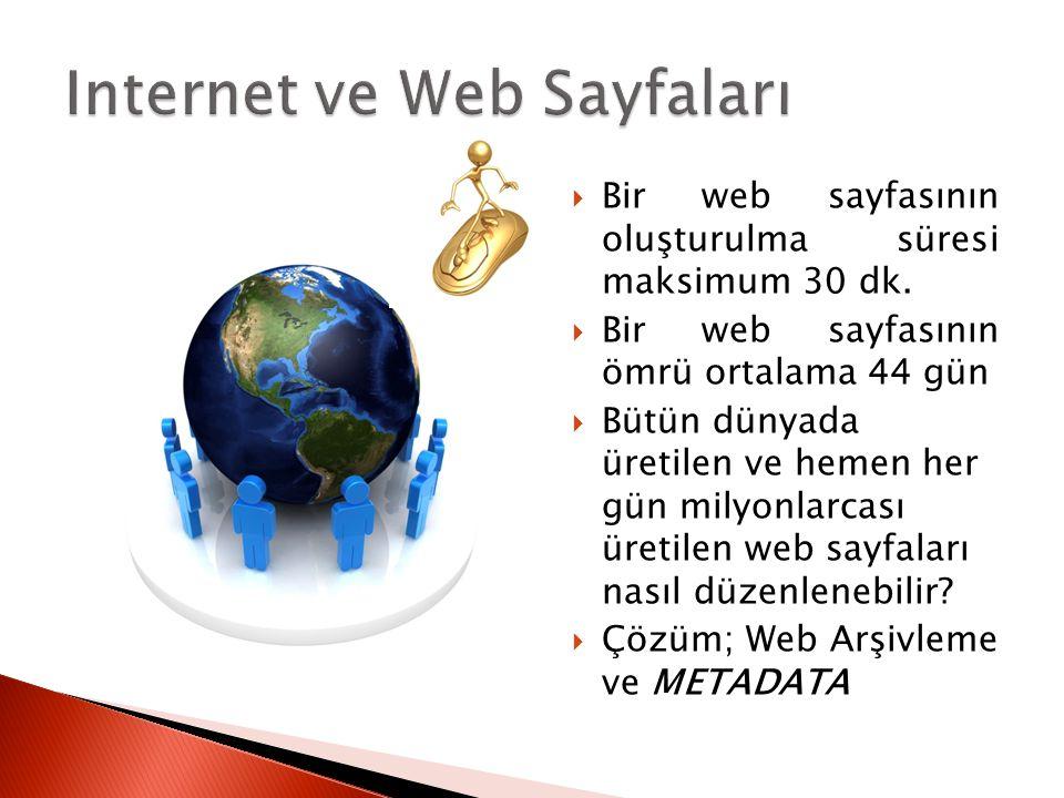 Internet ve Web Sayfaları