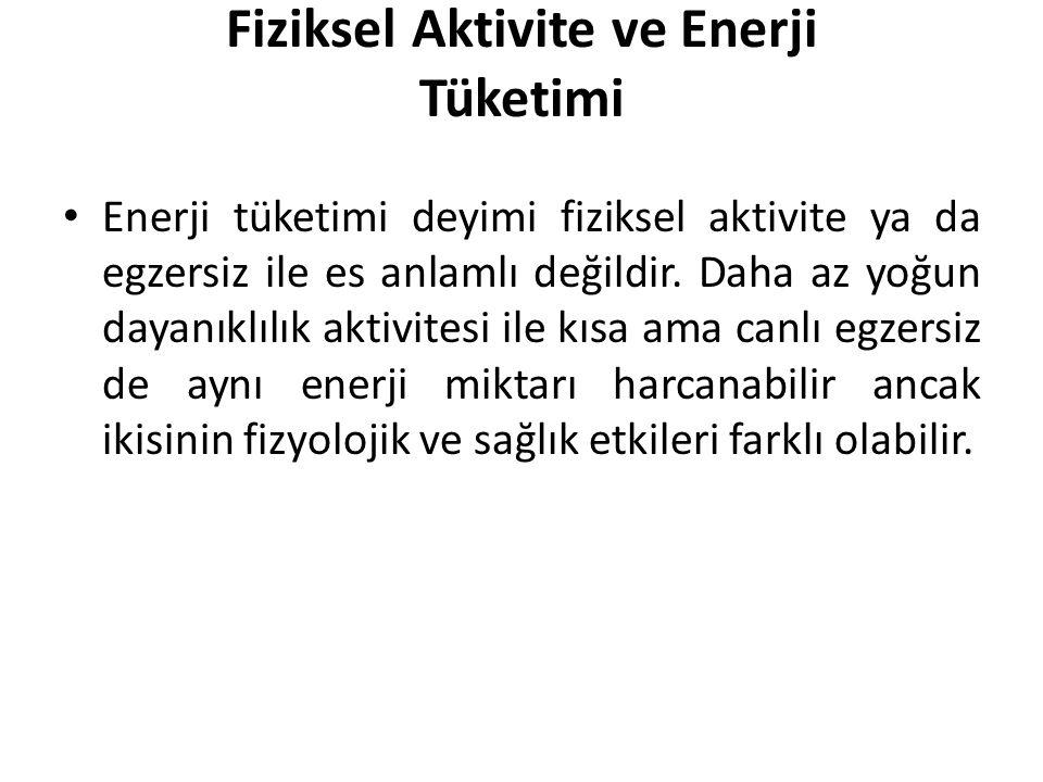Fiziksel Aktivite ve Enerji Tüketimi