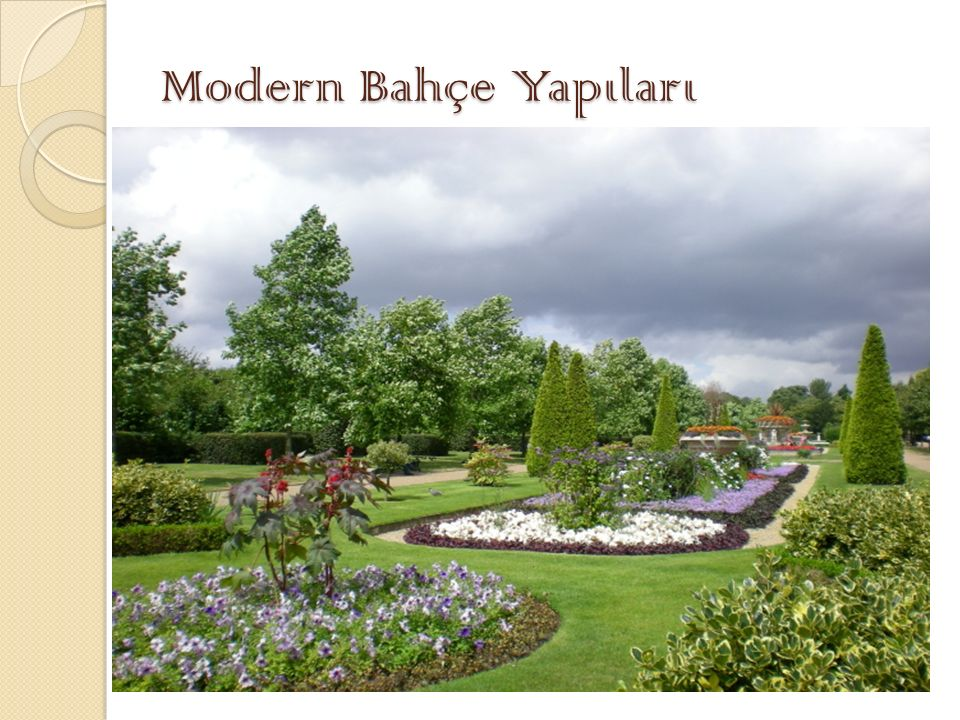 Modern Bahçe Yapıları