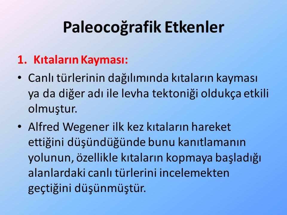Paleocoğrafik Etkenler