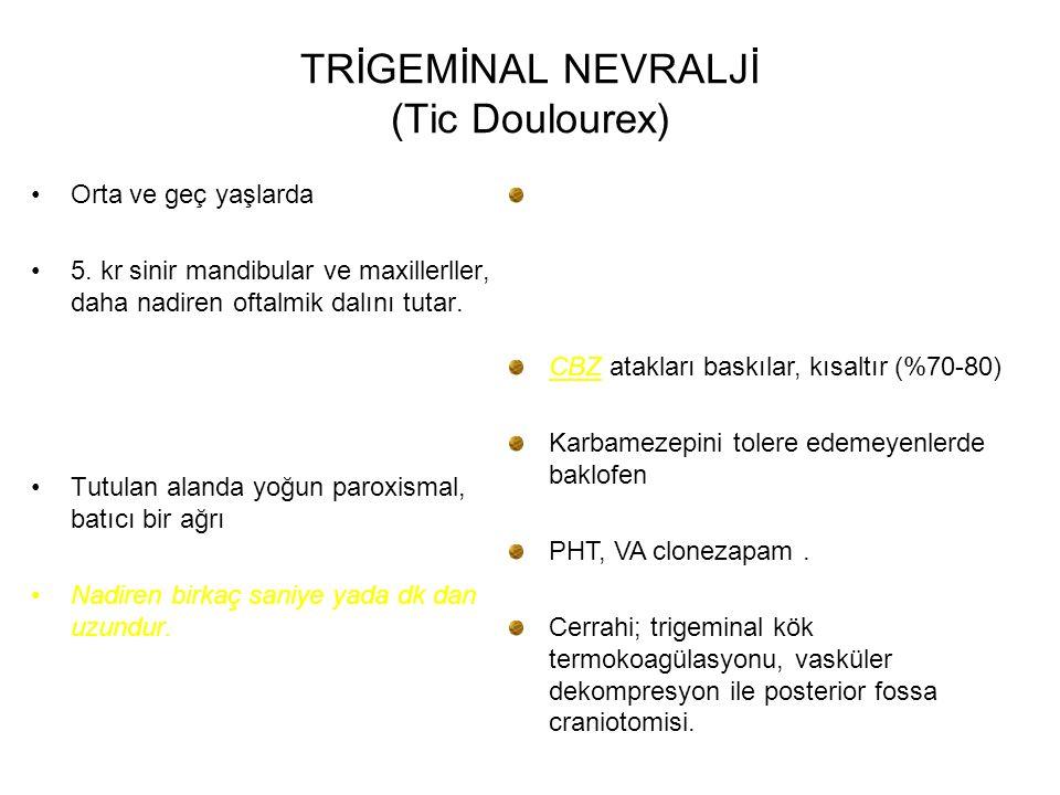 TRİGEMİNAL NEVRALJİ (Tic Doulourex)