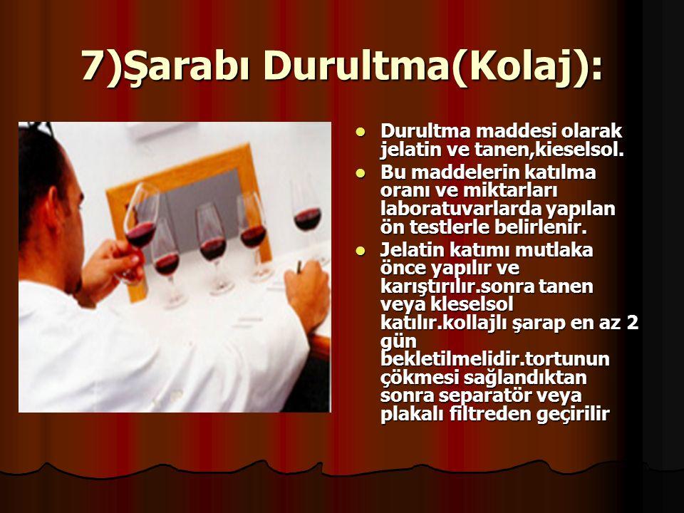 7)Şarabı Durultma(Kolaj):