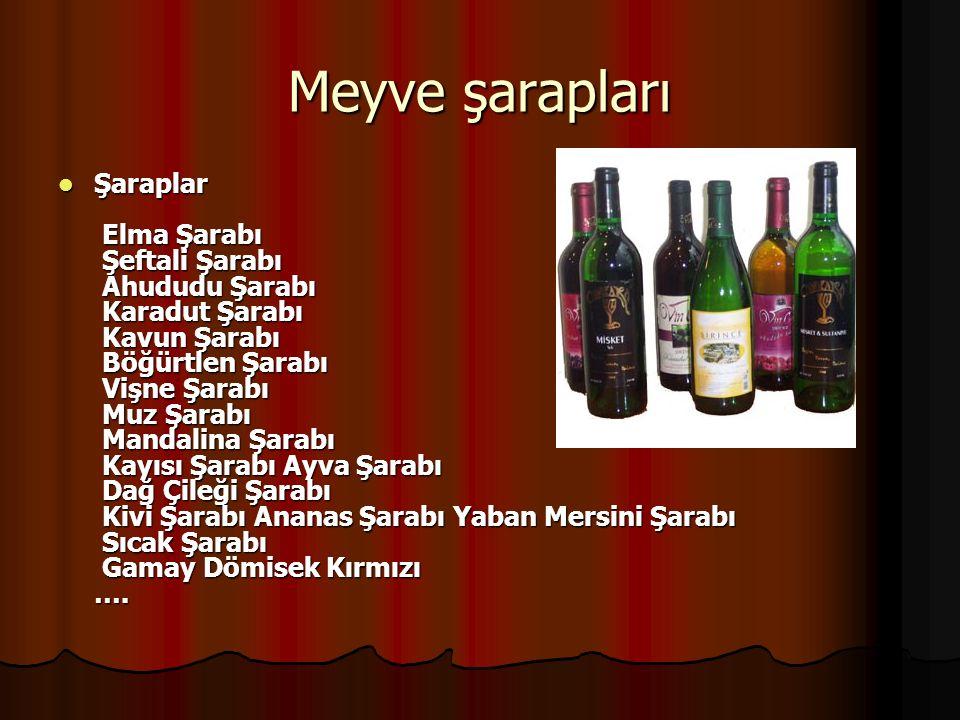 Meyve şarapları