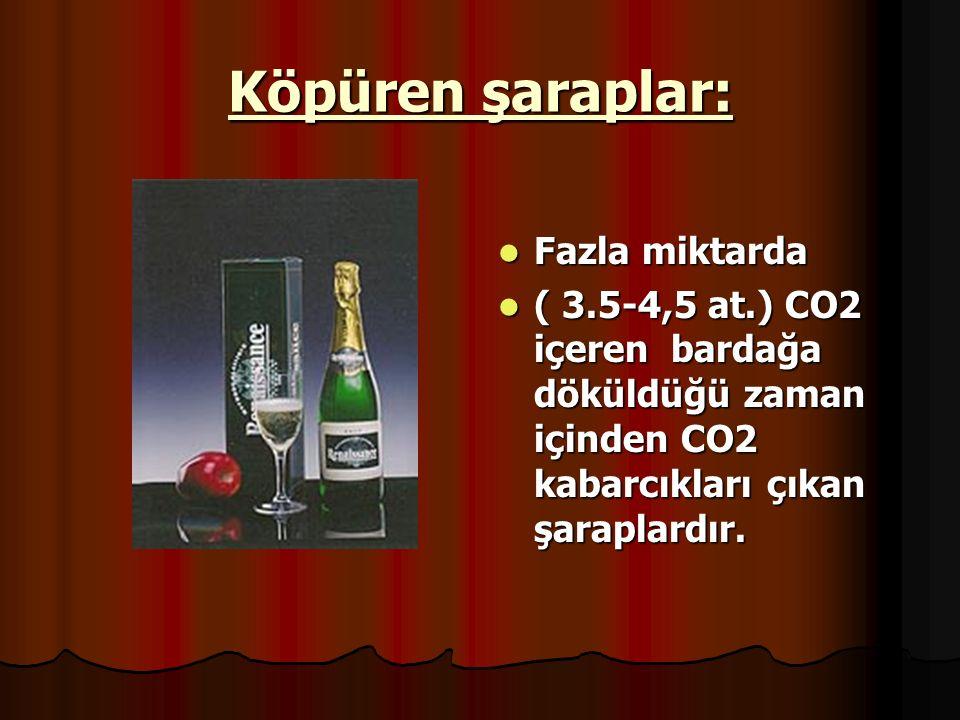 Köpüren şaraplar: Fazla miktarda