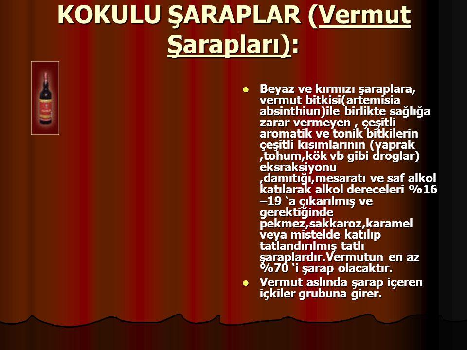 KOKULU ŞARAPLAR (Vermut Şarapları):