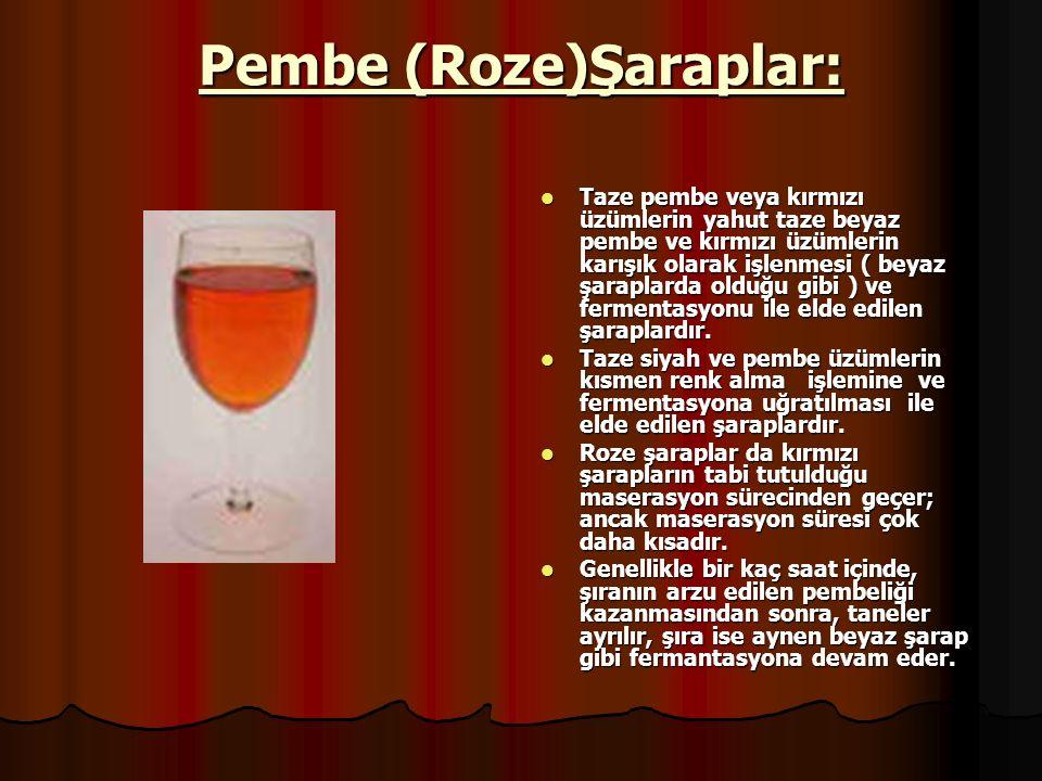 Pembe (Roze)Şaraplar: