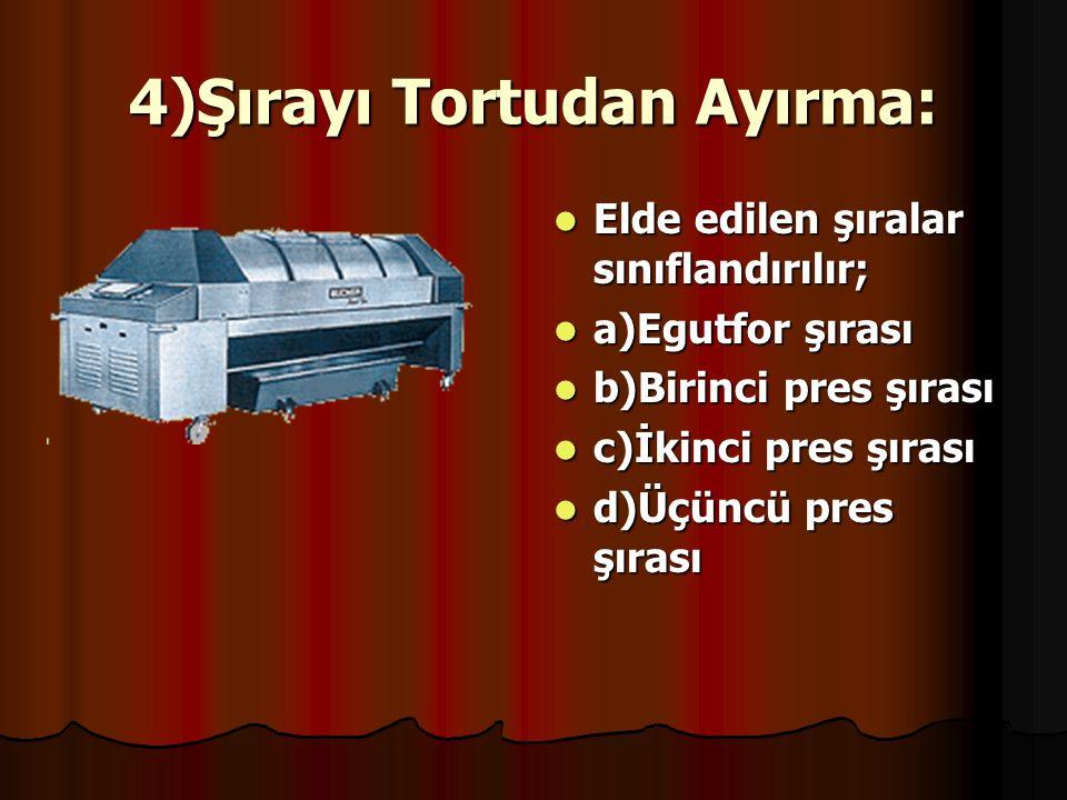 4)Şırayı Tortudan Ayırma: