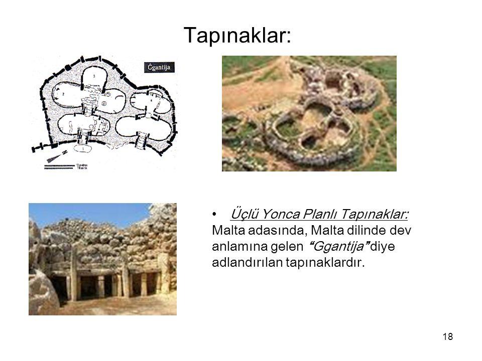Tapınaklar: Üçlü Yonca Planlı Tapınaklar: