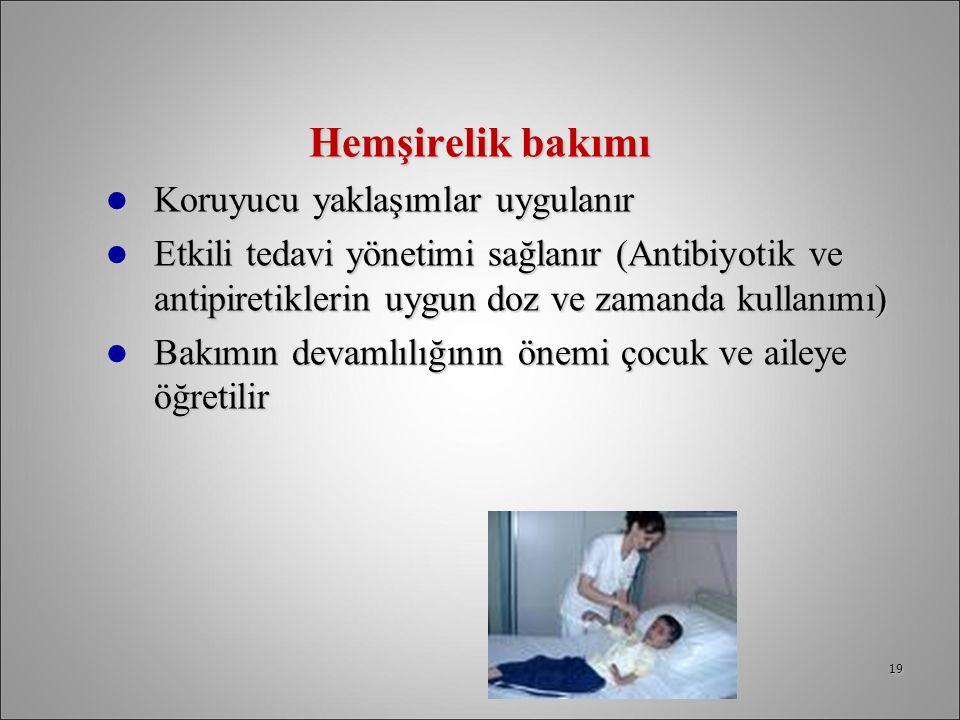 Hemşirelik bakımı Koruyucu yaklaşımlar uygulanır