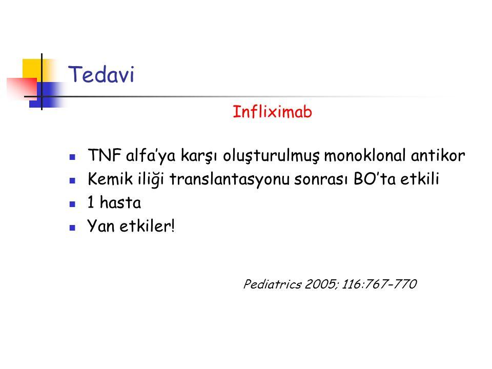Tedavi Infliximab TNF alfa'ya karşı oluşturulmuş monoklonal antikor