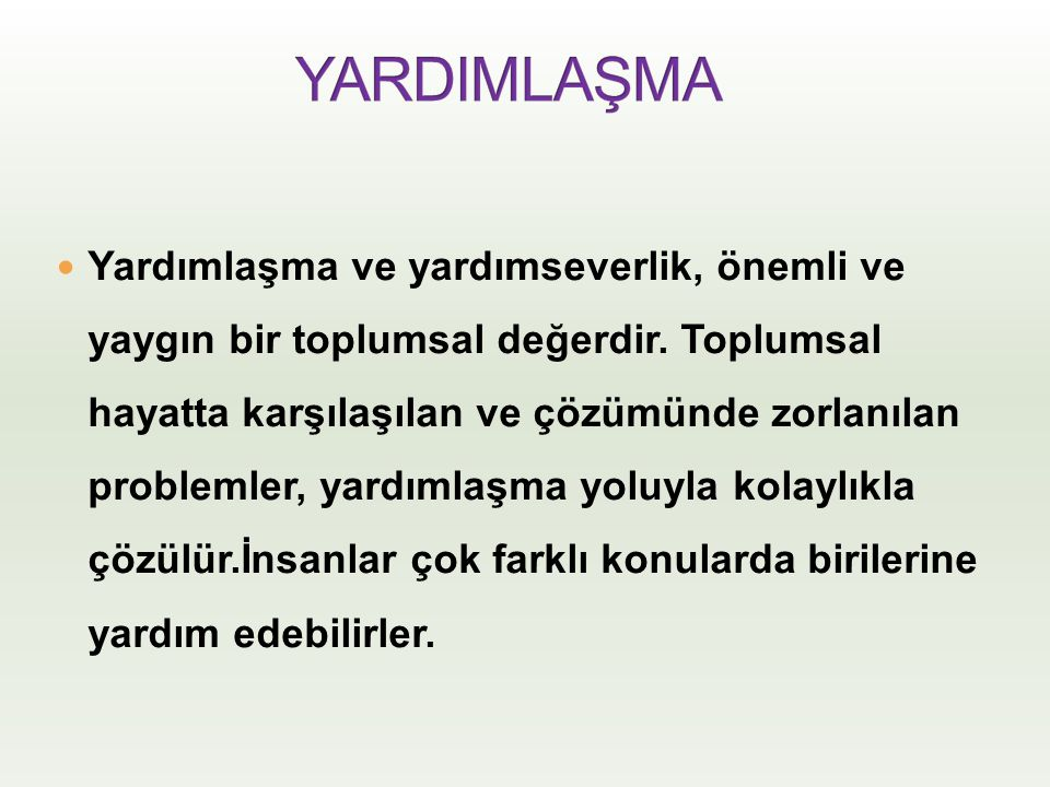 YARDIMLAŞMA