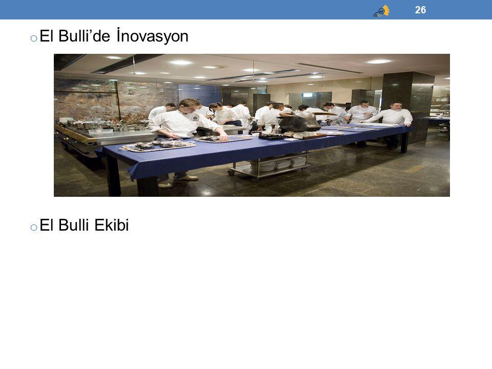 El Bulli'de İnovasyon El Bulli Ekibi