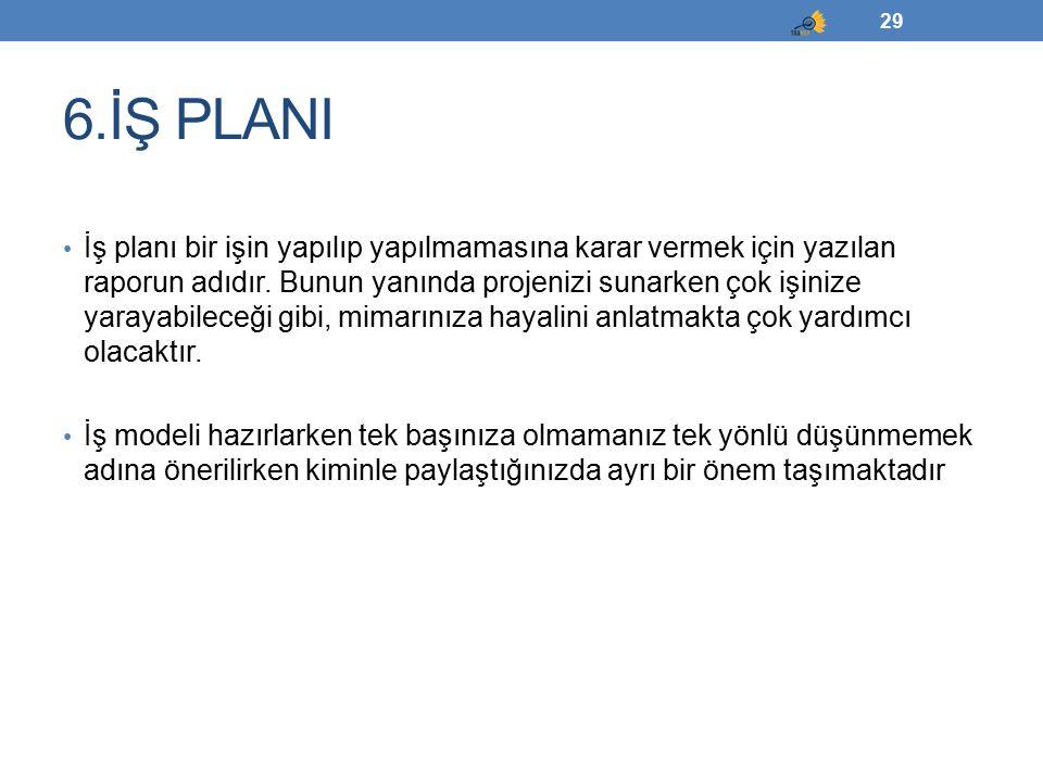 6.İŞ PLANI