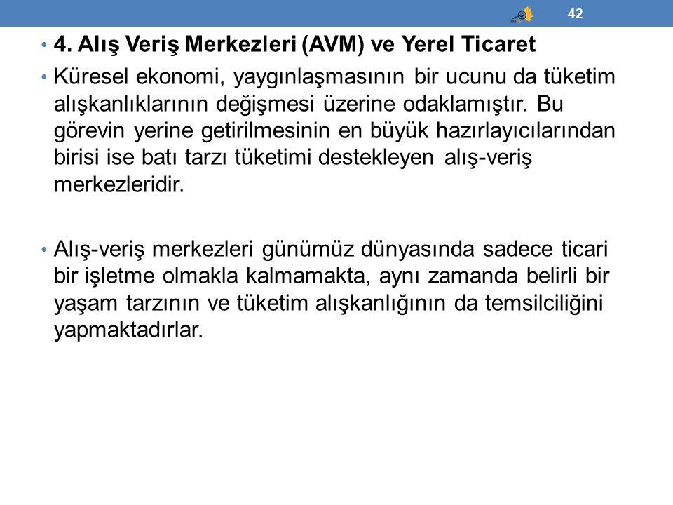4. Alış Veriş Merkezleri (AVM) ve Yerel Ticaret