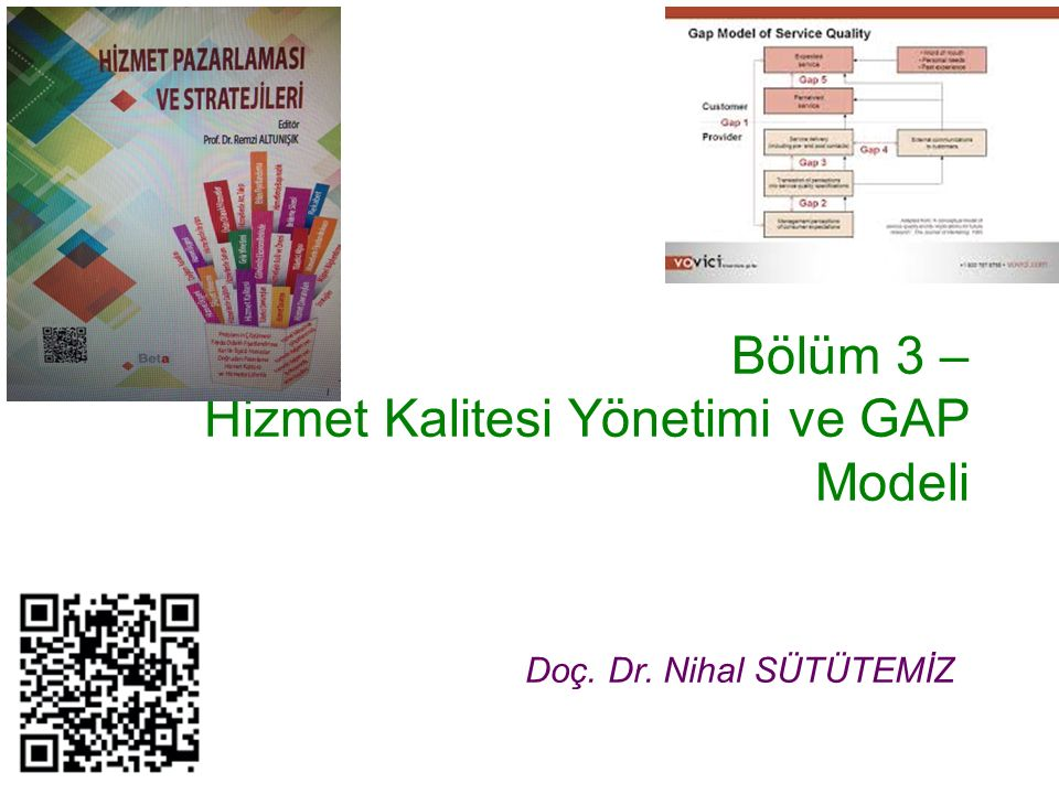 Bölüm 3 – Hizmet Kalitesi Yönetimi ve GAP Modeli