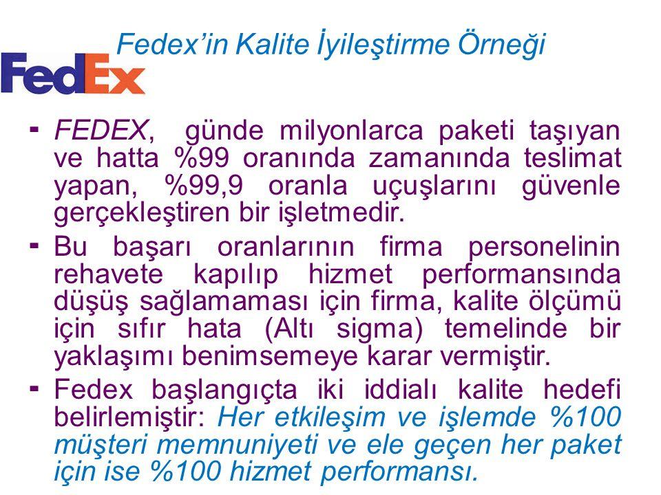 Fedex'in Kalite İyileştirme Örneği