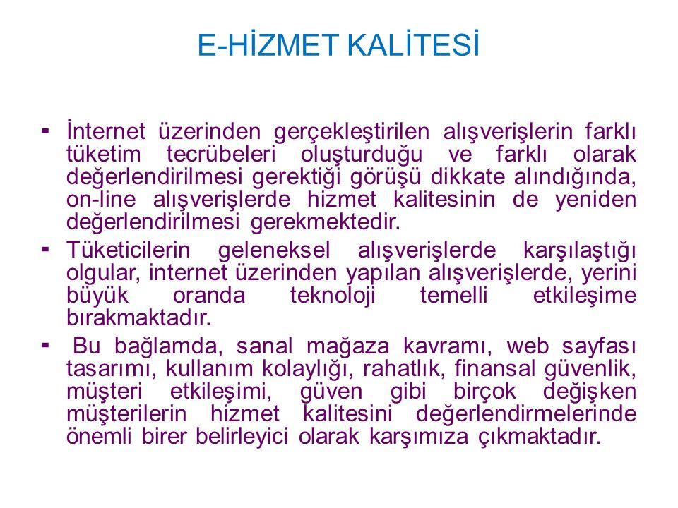 E-HİZMET KALİTESİ