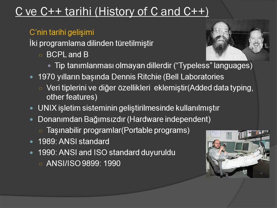 C ve C++ tarihi (History of C and C++)