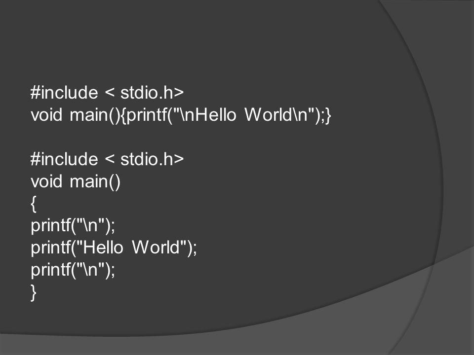 #include < stdio.h>