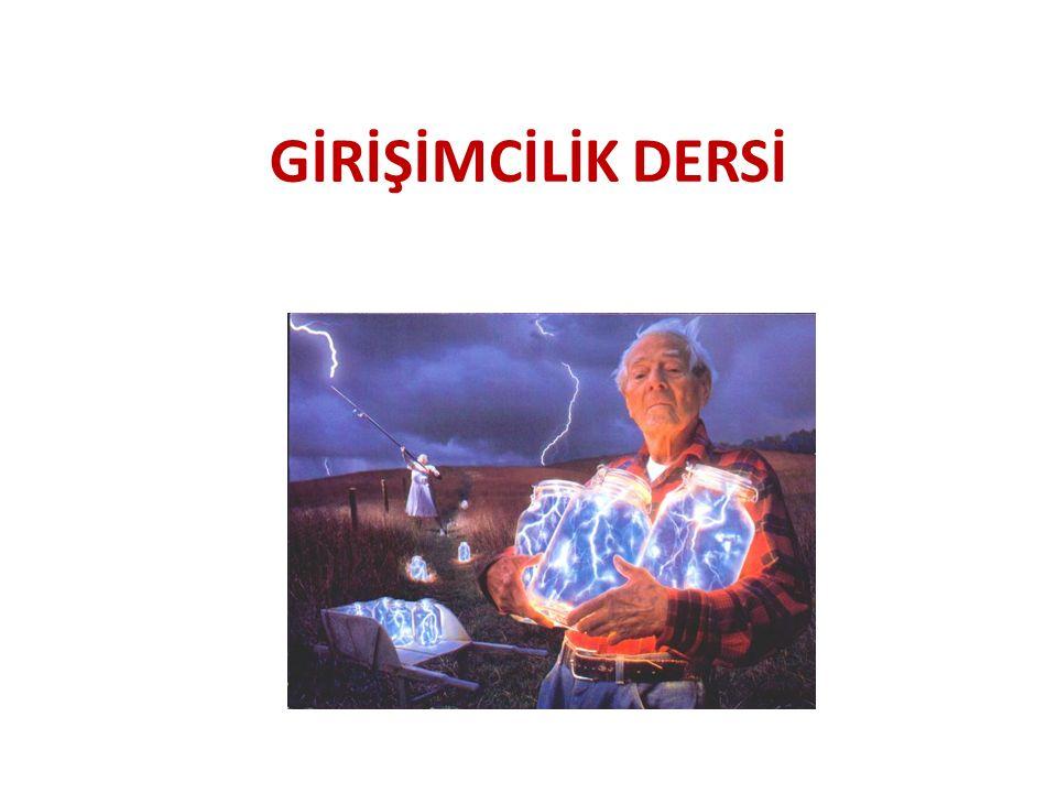 GİRİŞİMCİLİK DERSİ