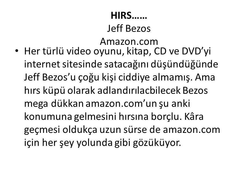 HIRS…… Jeff Bezos Amazon.com