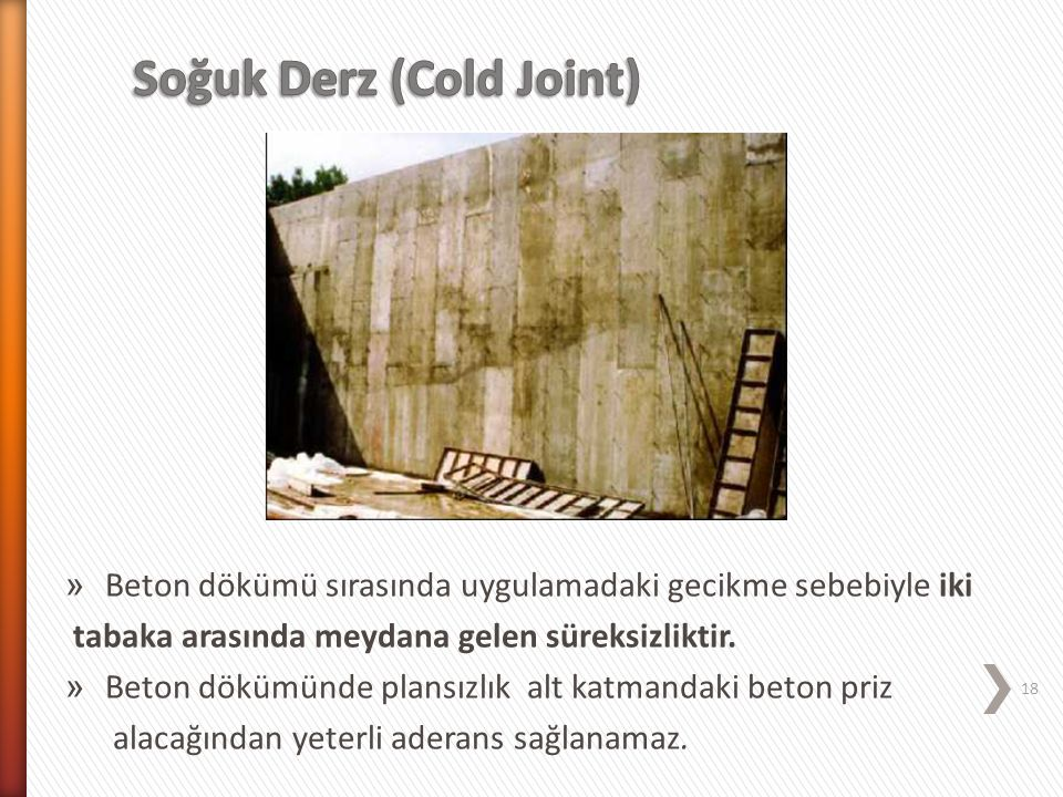 Soğuk Derz (Cold Joint)