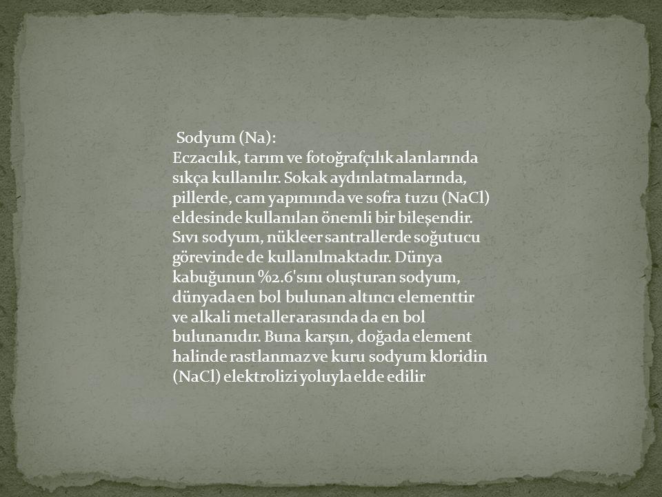 Sodyum (Na):