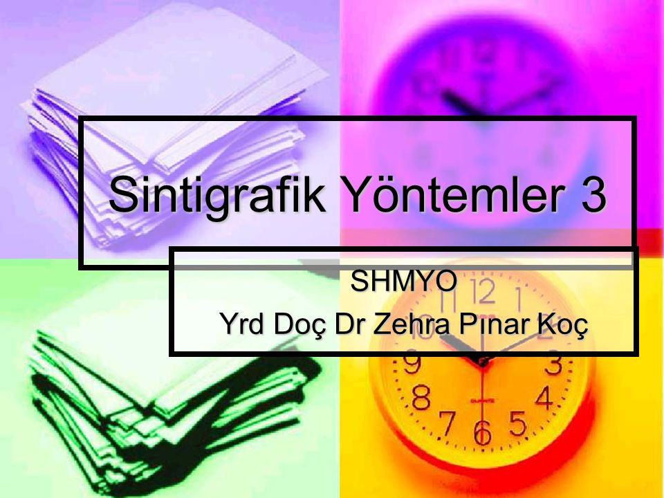 Sintigrafik Yöntemler 3