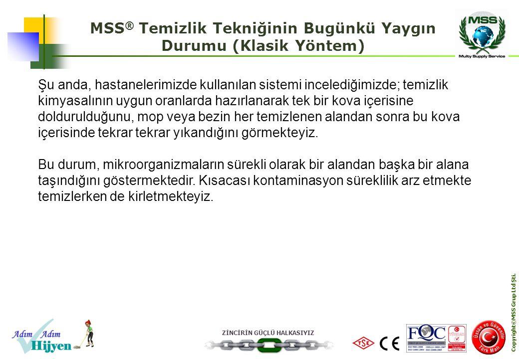 MSS® Temizlik Tekniğinin Bugünkü Yaygın Durumu (Klasik Yöntem)