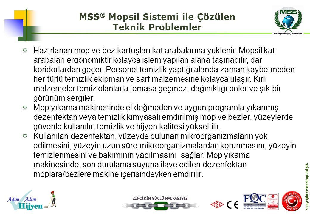 MSS® Mopsil Sistemi ile Çözülen Teknik Problemler