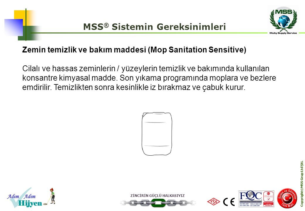 MSS® Sistemin Gereksinimleri Copyright©MSS Grup Ltd Şti.