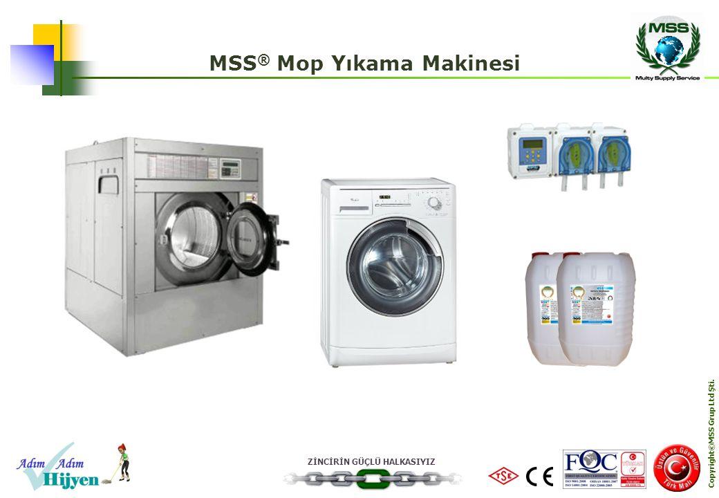 MSS® Mop Yıkama Makinesi Copyright©MSS Grup Ltd Şti.