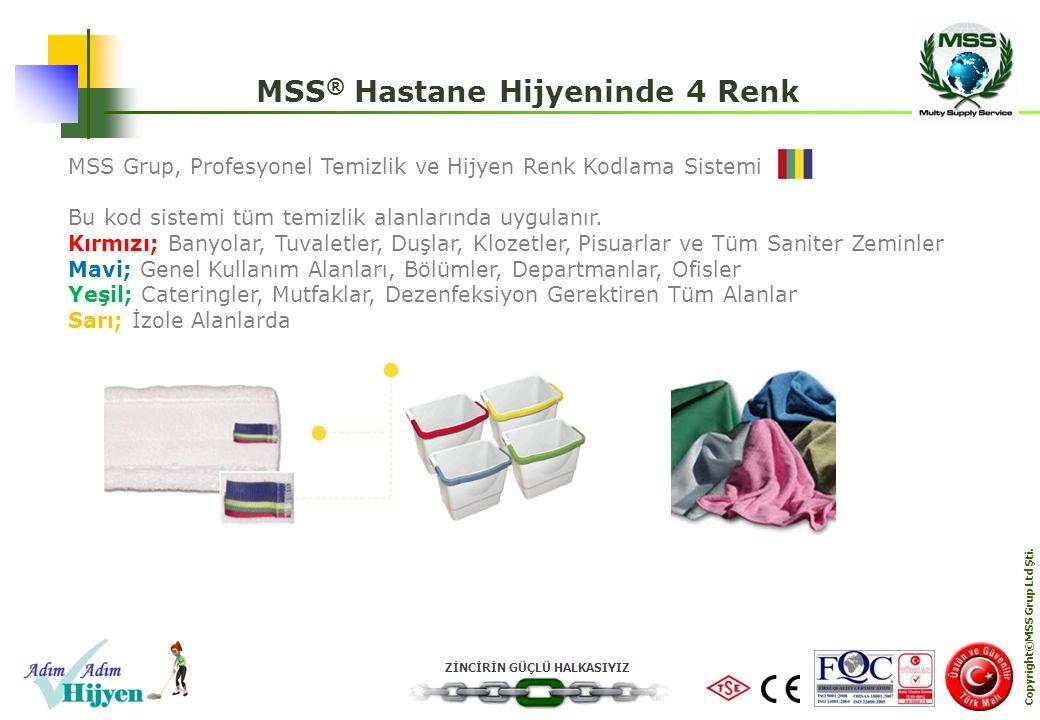 MSS® Hastane Hijyeninde 4 Renk Copyright©MSS Grup Ltd Şti.
