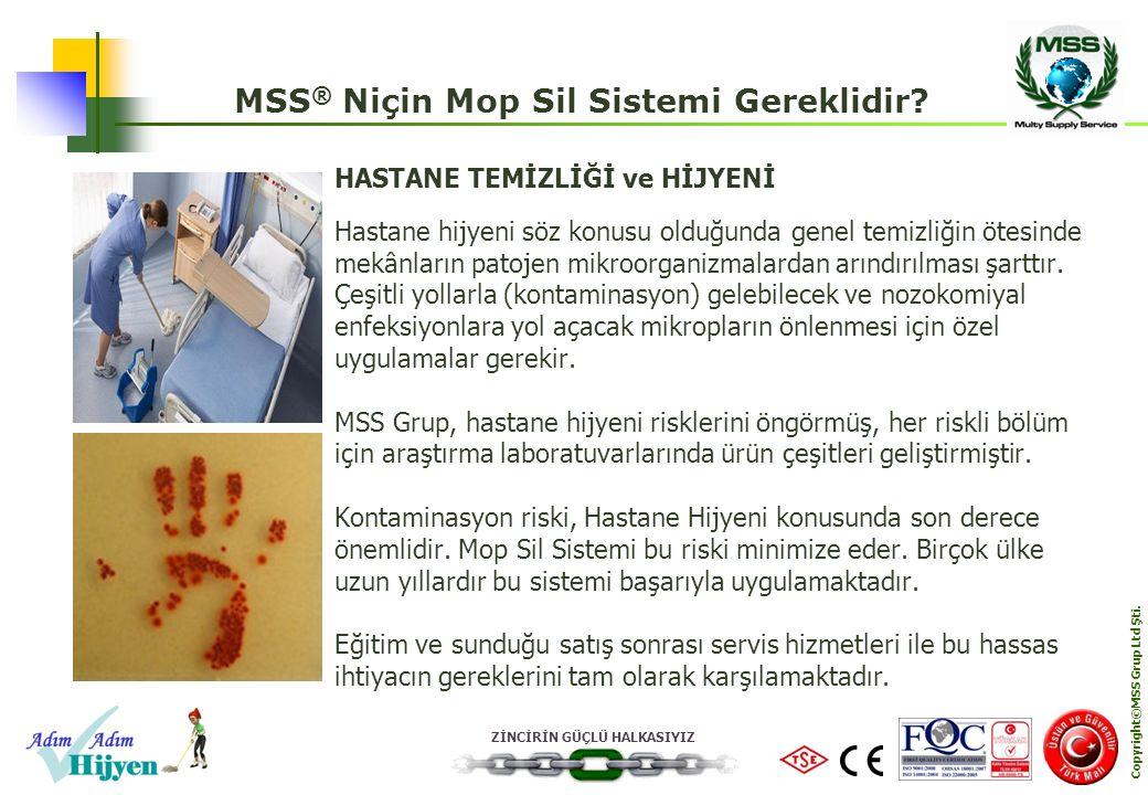 MSS® Niçin Mop Sil Sistemi Gereklidir Copyright©MSS Grup Ltd Şti.