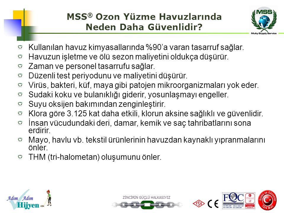 MSS® Ozon Yüzme Havuzlarında