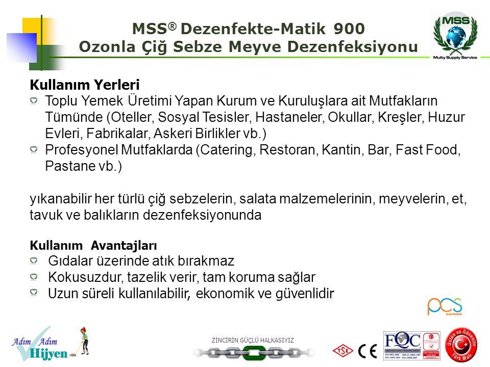 MSS® Dezenfekte-Matik 900 Ozonla Çiğ Sebze Meyve Dezenfeksiyonu