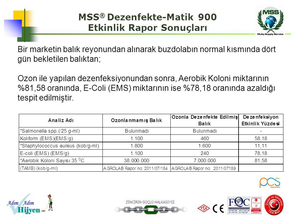 MSS® Dezenfekte-Matik 900 Etkinlik Rapor Sonuçları