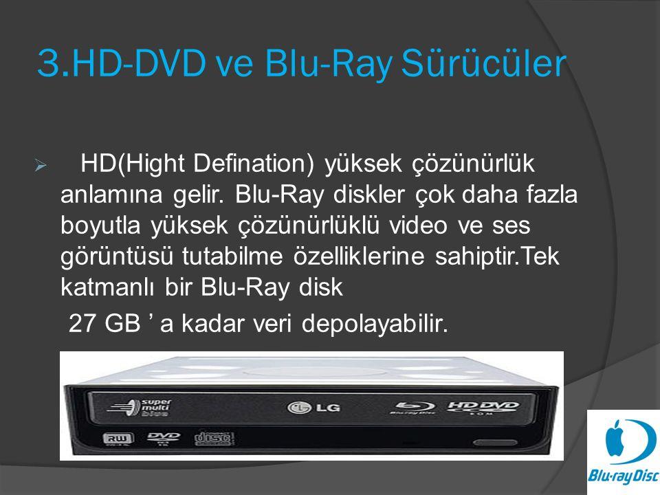 3.HD-DVD ve Blu-Ray Sürücüler