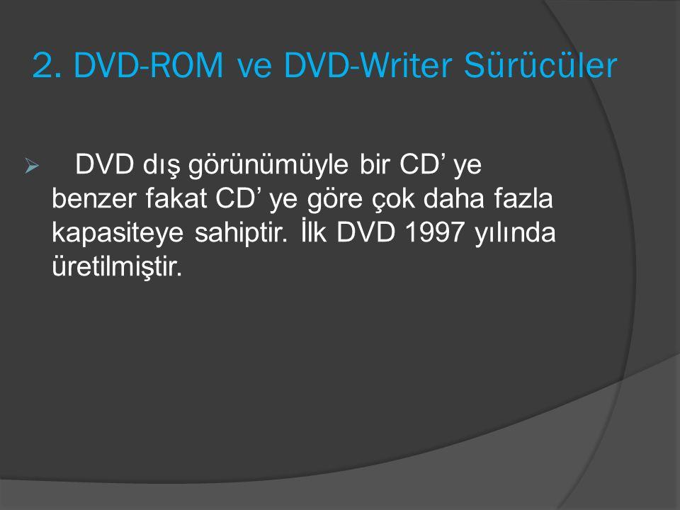 2. DVD-ROM ve DVD-Writer Sürücüler
