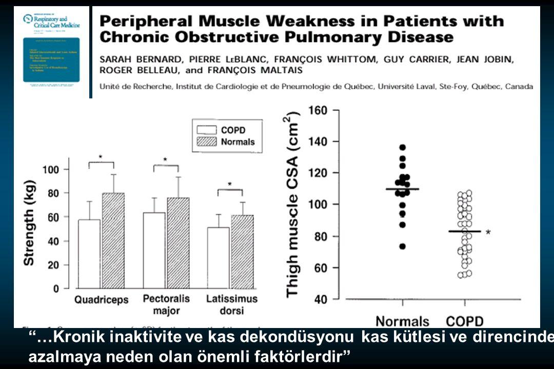 …Kronik inaktivite ve kas dekondüsyonu kas kütlesi ve direncinde