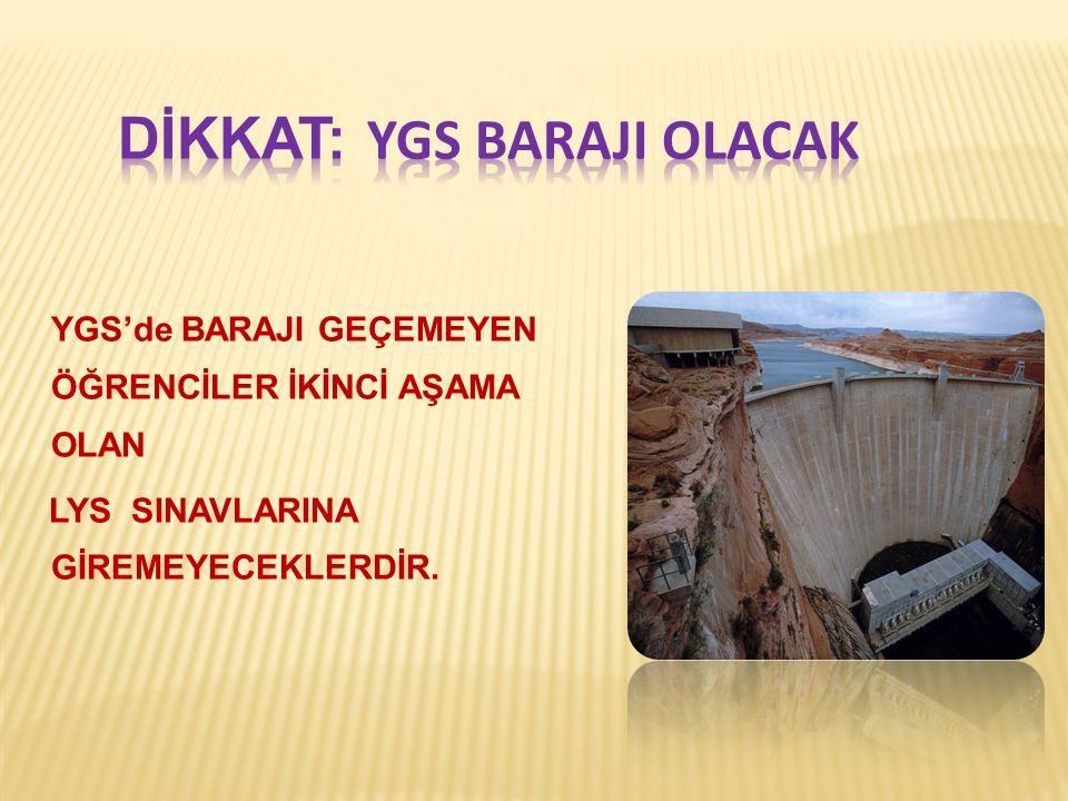 DİKKAT: YGS BarajI Olacak